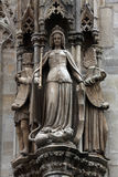 Statue of saint at St Stephen`s Cathedral in Vienna Royalty Free Stock Image