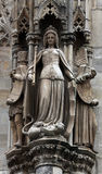 Statue of saint at St Stephen`s Cathedral in Vienna Stock Photography