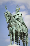 Statue of saint stephen, budapest Stock Photos
