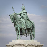 Statue of saint stephen, budapest Royalty Free Stock Images