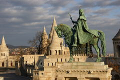Statue of Saint Stephen Budapest, Hungary Stock Image