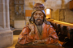 Statue of a Saint in the Stiftskirche in Tubingen Royalty Free Stock Photography