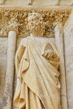 Statue of a Saint on the wall of Cathedral Our Lady of Reims Royalty Free Stock Photography