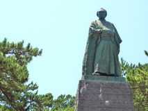 Statue of Sakamoto Ryoma in Kochi, Japan. Royalty Free Stock Photography