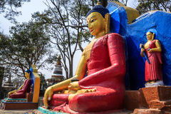 Statue of Sakyamuni, Swayambhunath, Kathmandu, Nepal Royalty Free Stock Photography
