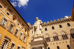 Statue of Sallustio Bandini in Piazza Salimbeni, Siena Royalty Free Stock Photos