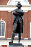 Statue of Sam Adams in Boston. MA royalty free stock photo