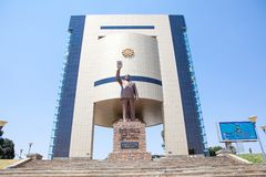 Statue of Sam Nujoma stock image