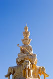 Statue of samantabhadra Stock Images