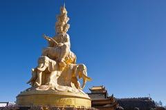 Statue of samantabhadra Stock Photo