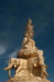 Statue of Samantabhadra Bodhisattva on Mount Emei Royalty Free Stock Photos