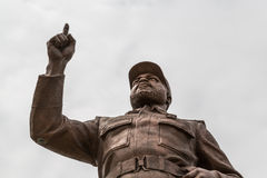 Statue of Samora Moisés Machel at Independence  Square. A giant statue of Samora Moisés Machel at the Independence Square in Downtown Maputo, Mozambique Stock Image