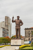 Statue of Samora Moisés Machel at Independence  Square. A giant statue of Samora Moisés Machel at the Independence Square in Downtown Maputo, Mozambique Royalty Free Stock Photo