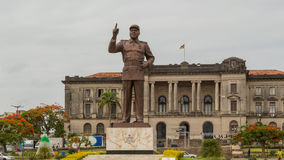 Statue of Samora Moisés Machel at Independence  Square Stock Photography