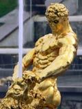 Statue Samson. Of park Petrodvorets Royalty Free Stock Photography