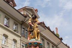 Statue of the Samson Fountain in Bern, Switzerland Stock Image