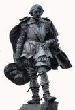 Champlain Statue. A statue of samual champlain on white bacground Stock Photography