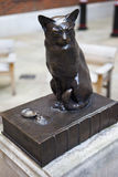 Statue of Samuel Johnson's Cat 'Hodge' Royalty Free Stock Images