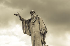 Statue of San Benedetto in Norcia Royalty Free Stock Photography