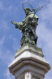 Statue of San Domenico in Naples, Italy Royalty Free Stock Images