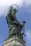 Statue of San Domenico in Naples, Italy Royalty Free Stock Photography