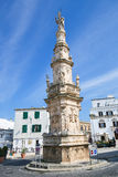 Statue of San Oronzo in the center of Ostuni Stock Photos