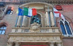 Statue of San Petronio at the facade of City Hall, Bolognia Stock Photography