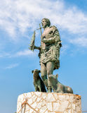 Statue of San Vito Martire, the protection of the fishermen. Royalty Free Stock Photos