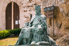 Statue of Sancho IV the brave near Castle Guzman Royalty Free Stock Image