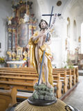 Statue in Sanct Georg church Stock Photos