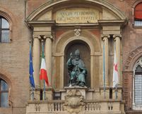 Statue Sans Petronio im Bologna Lizenzfreie Stockfotografie