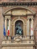 Statue Sans Petronio im Bologna Stockfotografie