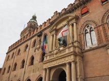 Statue Sans Petronio im Bologna Stockbild