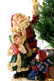Statue of Santa Claus with children Stock Photo