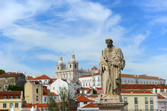 Statue of Santa Luzia in Lisbon, Portugal Royalty Free Stock Photography