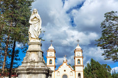 Statue and Santa Rosa de Ocopa Convent Royalty Free Stock Photography