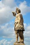 Statue on the Santa Trinita bridge in Florence Royalty Free Stock Photography