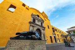 Statue and Santo Domingo Church Royalty Free Stock Photos