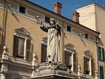 Statue of Savonarola Royalty Free Stock Photography