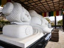 Statue Schlafensbuddha Stockbild