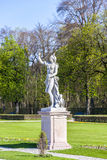 Statue schloss Munich, Nymphenburg palace on sunny day Royalty Free Stock Images