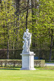 Statue schloss Munich, Nymphenburg palace on sunny day Royalty Free Stock Photography