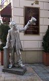 The statue of Schoner Naci, Bratislava Royalty Free Stock Photos