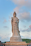 Statue of the sea goddess Mazu. In matsu islands, Taiwan Stock Images