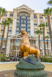 Statue of sea lion in front of Table Bay Hotel in Cape Town Stock Photography