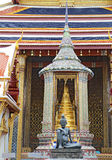 Statue of a seated hermit at Wat Phra Kaew in Bangkok Stock Photo