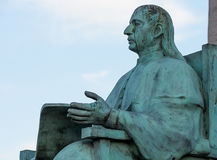 Statue of a Seated Man. In Monterrey, Mexico Royalty Free Stock Images