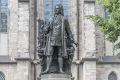 Statue of Sebastian Bach in Leipzig, Germany Stock Images