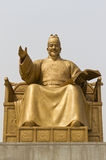Statue of Sejong the Great stock images