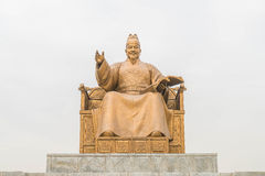 Statue of Sejong the Great, the king of South Korea Stock Photos